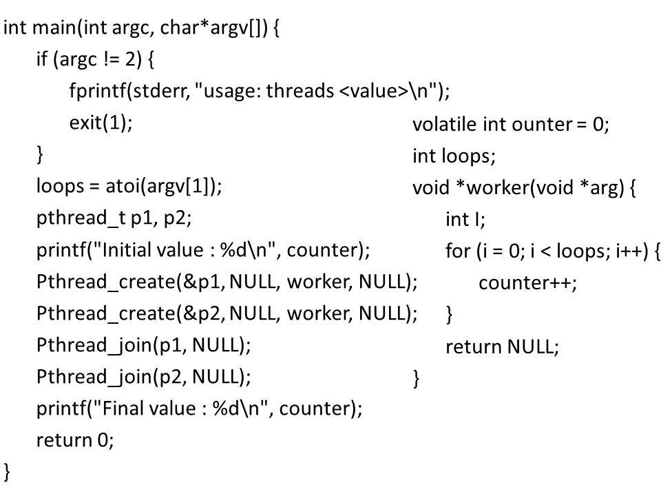 int main(int argc, char. argv[]) { if (argc